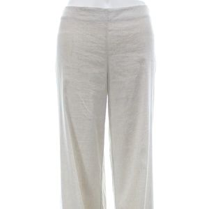 THEORY LINEN BLEND WIDE LEG PANTS SIZE 6 NWT